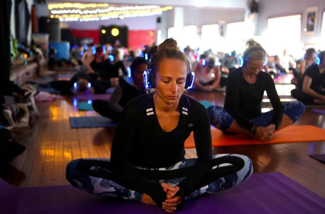 YOGA - You can host three types of yoga styles or levels all in the same space.