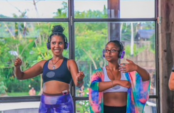FITNESS CLASS - You can host three level of intensity of fitness classes all in the same space.