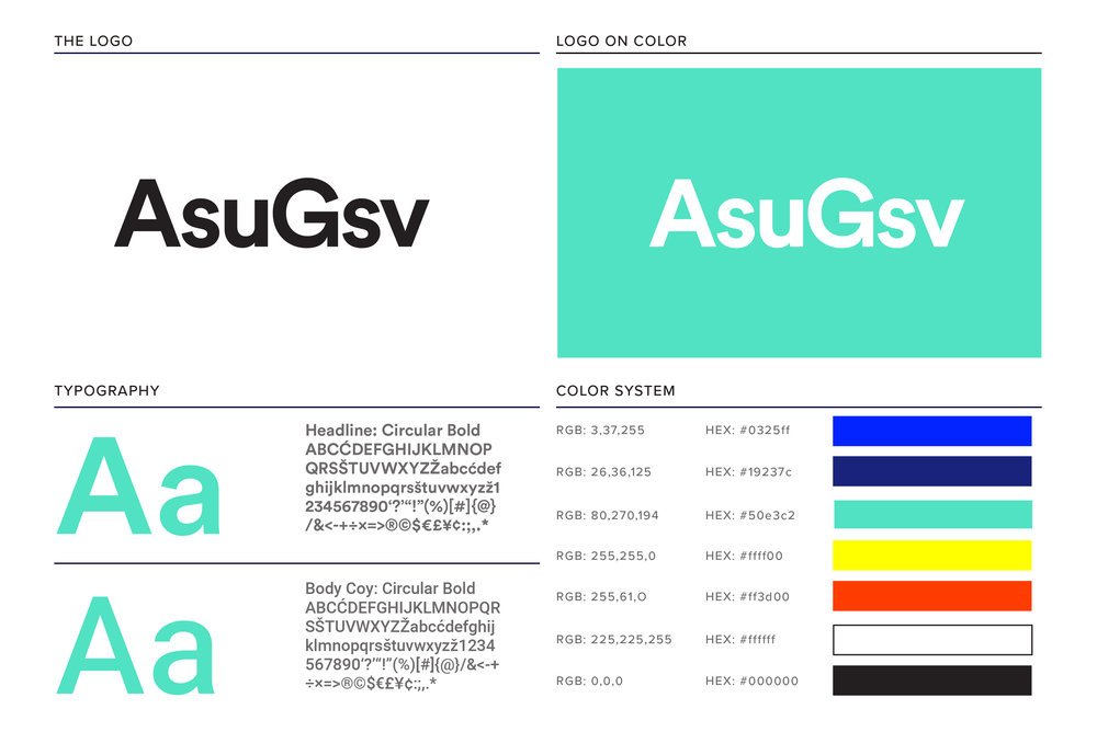 Type and Color System