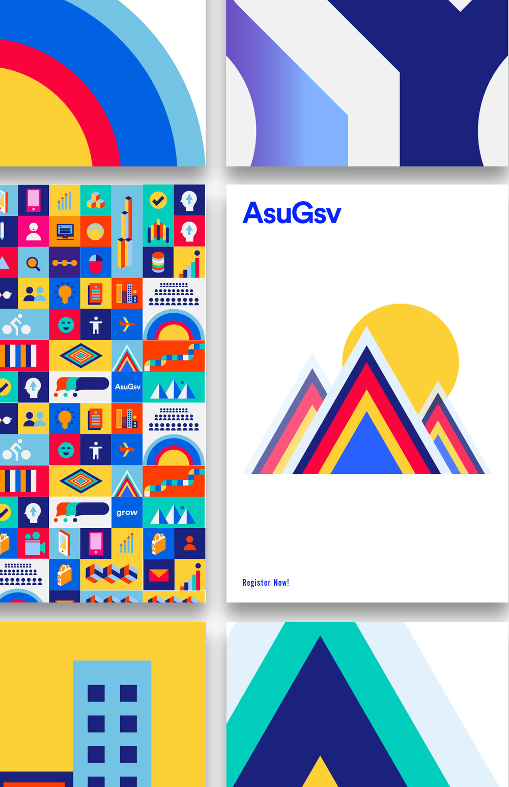 Illustrated poster designs
