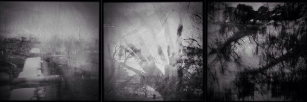 Triptych of old world images from the series Dreaming Landscapes