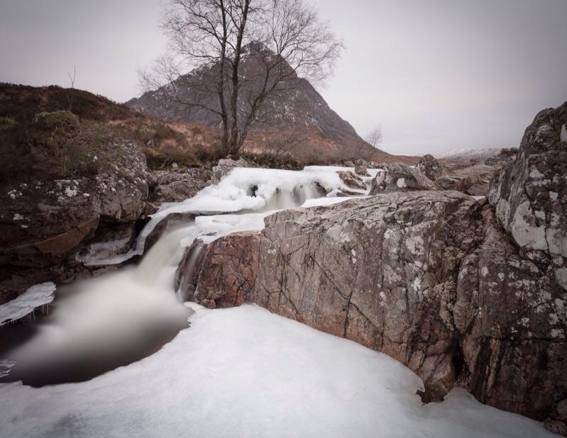 Winter River, Etive Mor, Scotland
