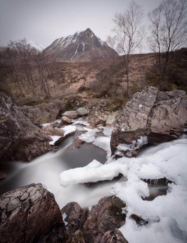 Winter River, Creise, Scotland