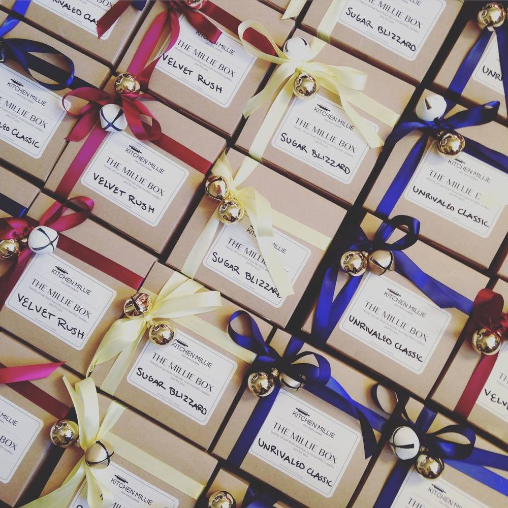 Holiday Millie Gift Boxes! Twenty of our fresh from the oven, two-bite cookies -- just for you.