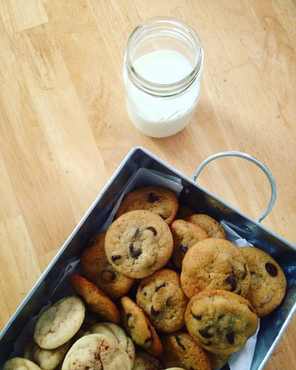 A low key milk and cookie pairing for an afternoon get together.