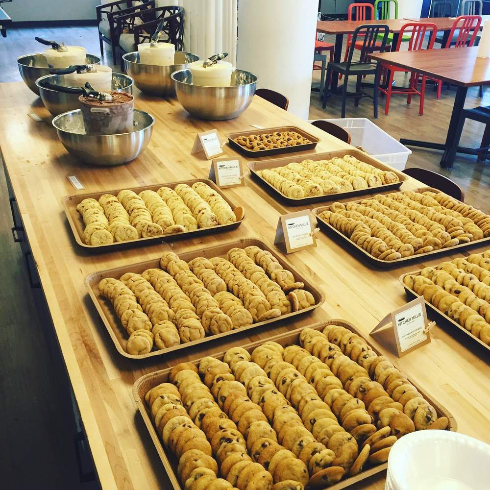 Make-your-own ice cream cookiewich party at TripAdvisor in Boston, MA!