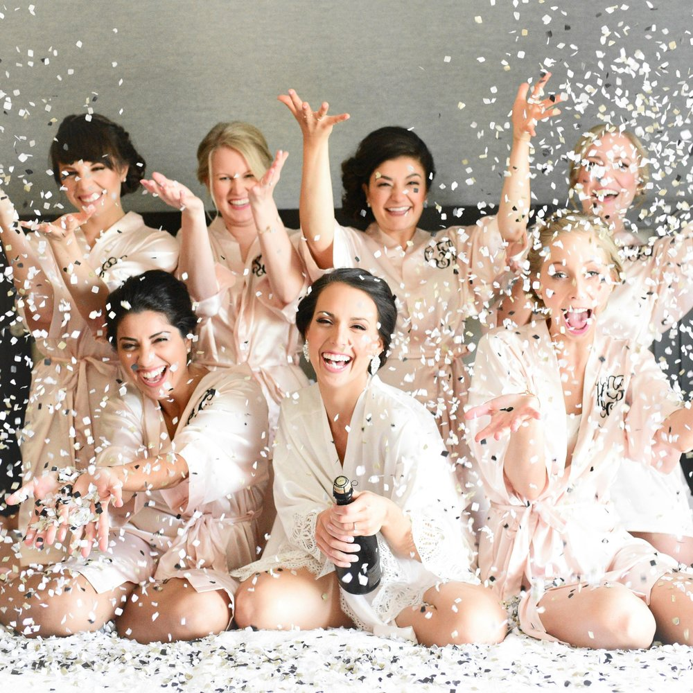 Bridesmaid Confetti Photo
