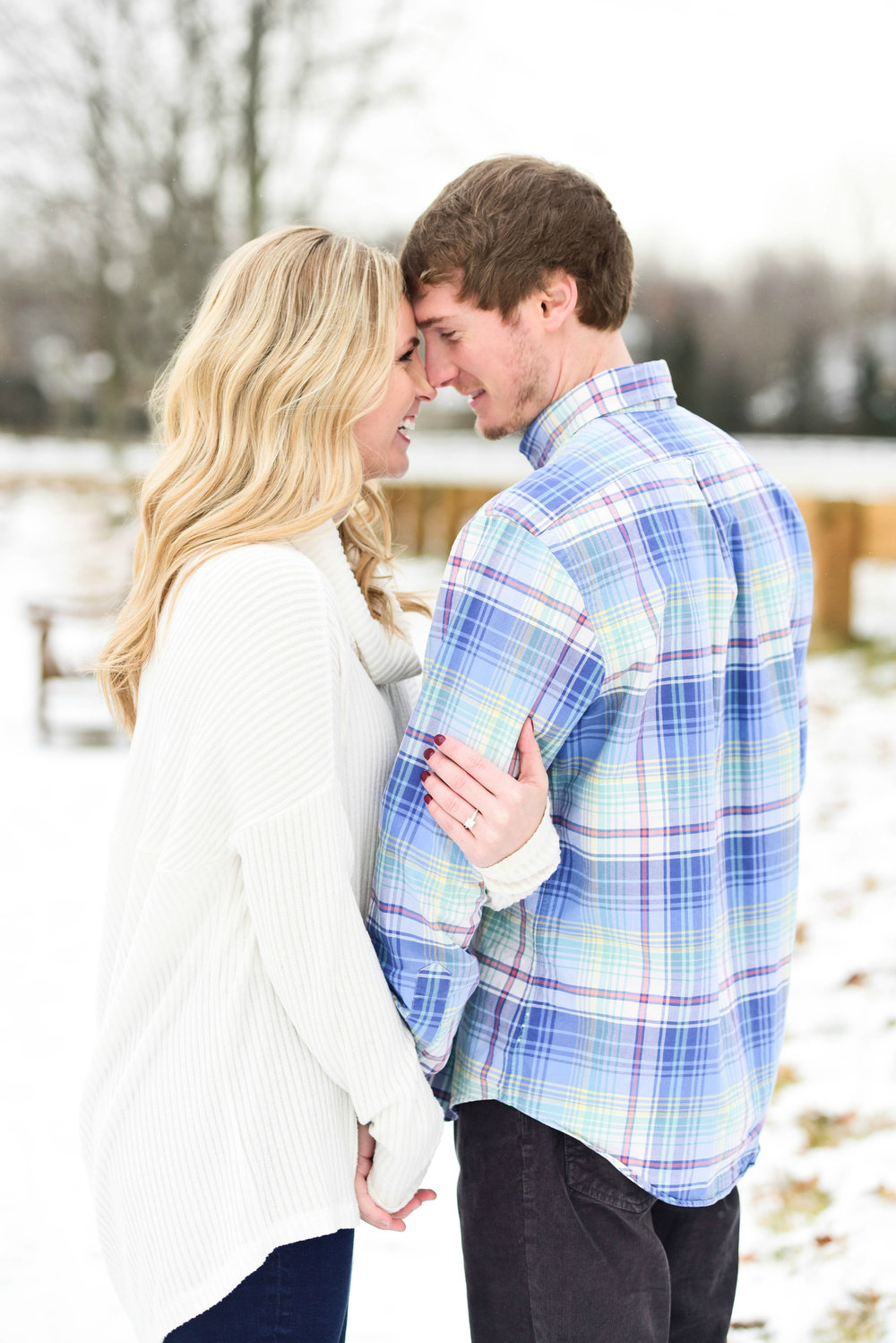 Snowy New Albany Engagement Session