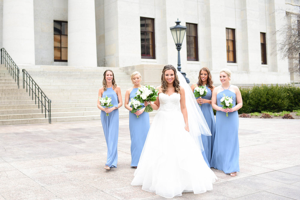 Ohio Statehouse Wedding Portraits