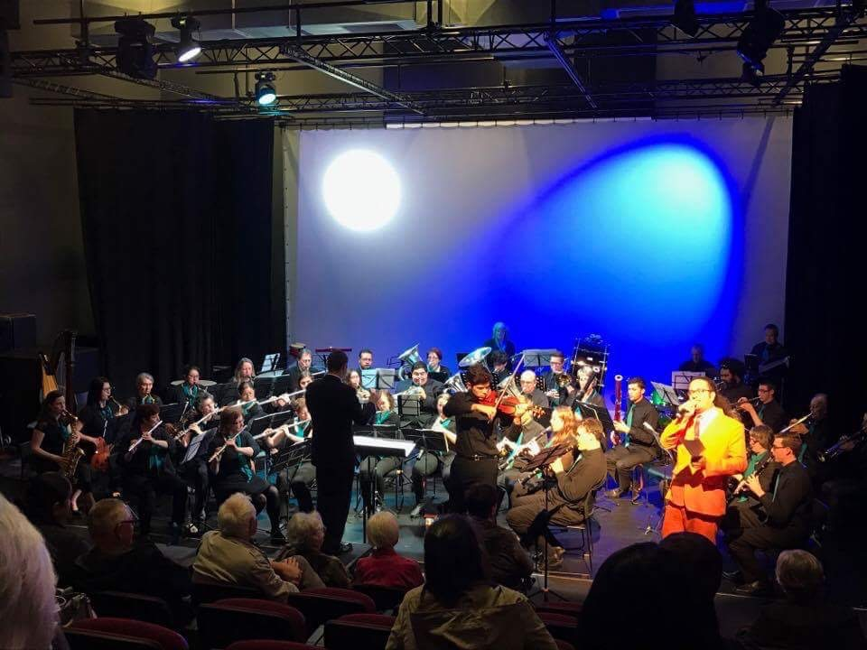 Performing with the Manukau Concert Band