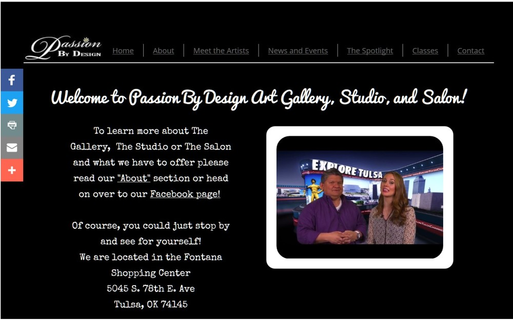 Passion By Design website