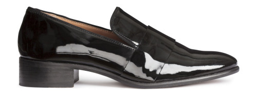Yes, shiny loafers. dress these down and dress these up! ---  H&M - $69.99