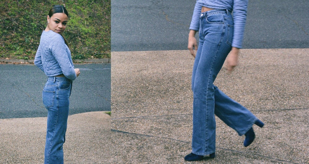 wearing: Kimchi Blue booties, Topshop jeans, Bycorpus top