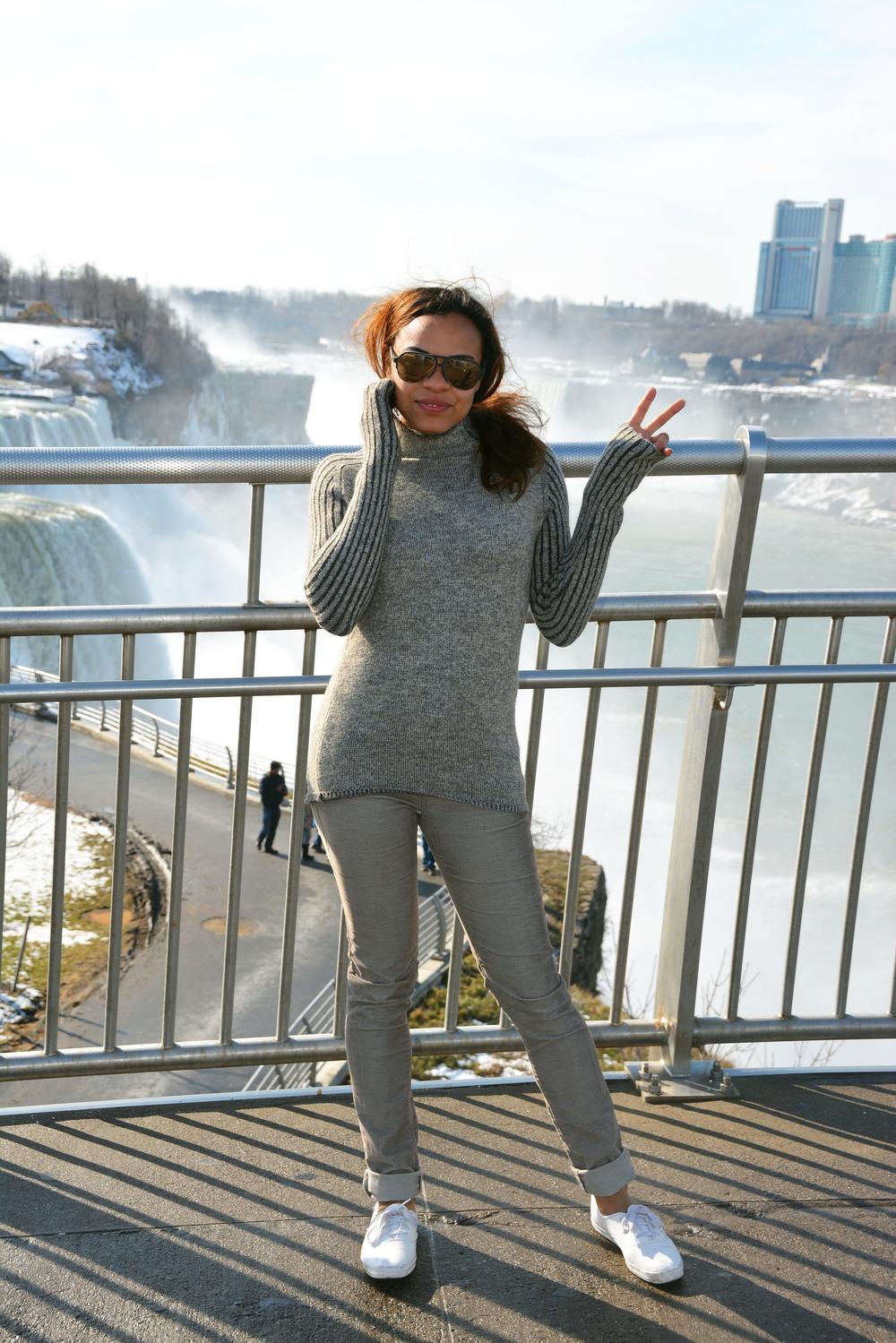 wearing: BDG corduroy pants, Ked's shoes, Zara turtleneck knit, Dolce & Gabbana sunnies.