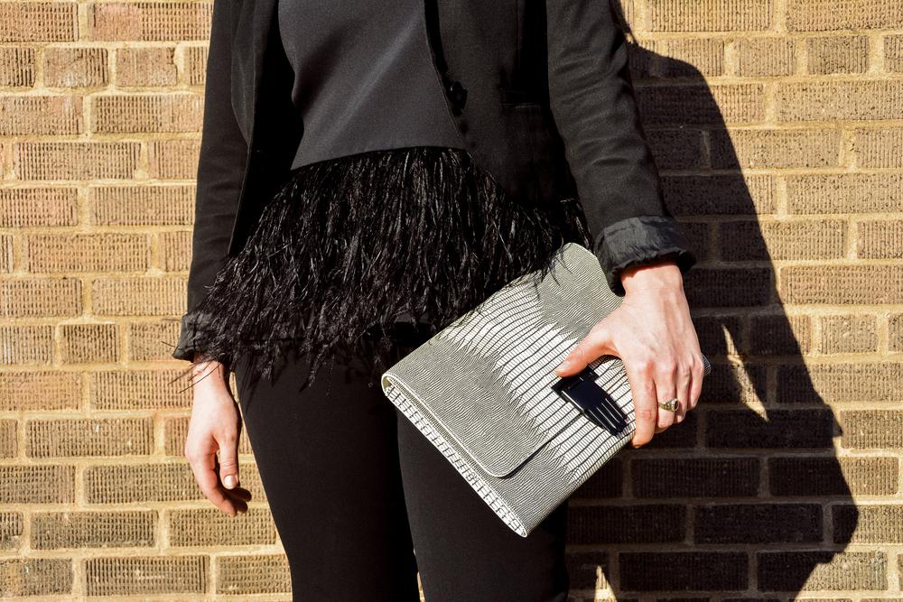Blazer by Talbots, Top by Tibi, Chinos by H&M, Handbag by Opening Ceremony