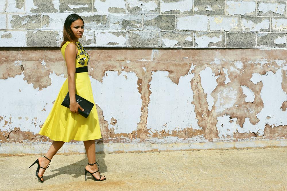 wearing: Lela Rose, Forever21 shoes, YSL clutch