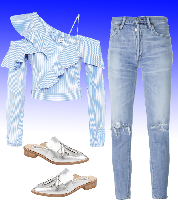Top:  Sheike , Jeans:  Citizens of Humanity , Shoes:  Steve Madden