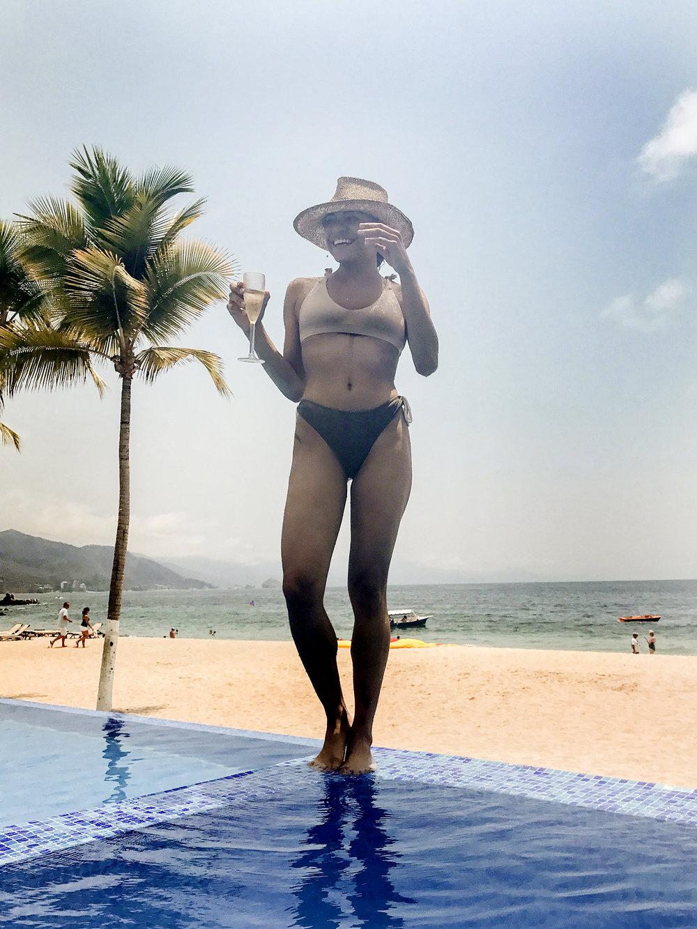 Bikini top:  Tobi , Bikini bottom:  Salt Swimwear