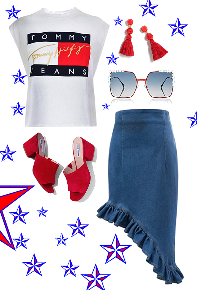 Shoes:  Steve Madden , Skirt:  InDot , Top: ASOS, Sunnies:  Fendi , Earrings:  J.Crew