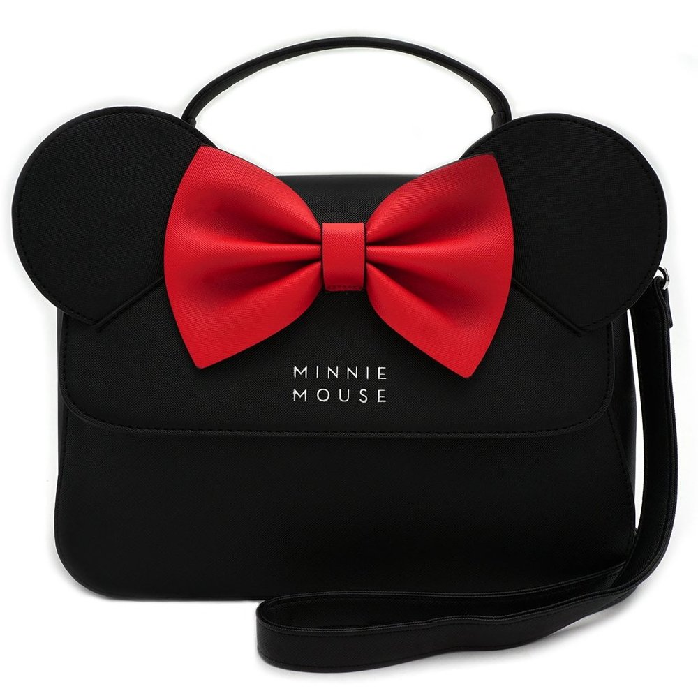 Moodswings Inc - Loungefly Disney Minnie Mouse Ears & Red Bow Kawaii Crossbody Purse,$64