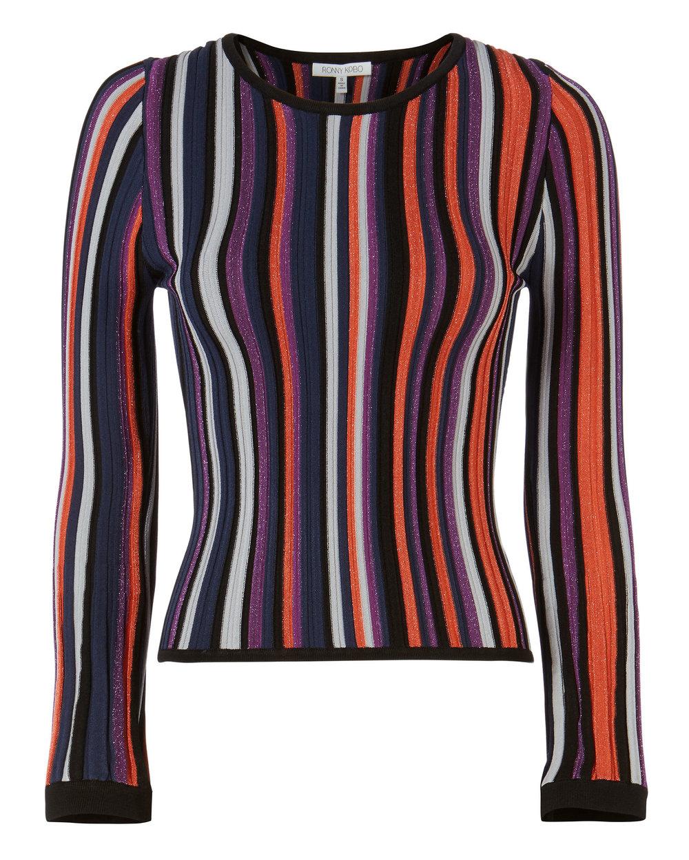 Ronny Kobo - Dafne Striped Top, $348