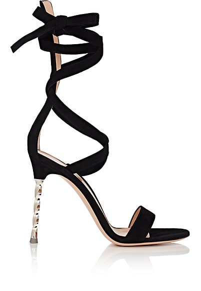GianvitoRossi - Metal-Heel Suede Ankle-Tie Sandals, $1,145