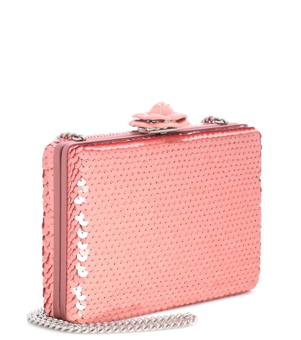 Oscar de la Renta - Rogan sequinned box clutch, $1,912