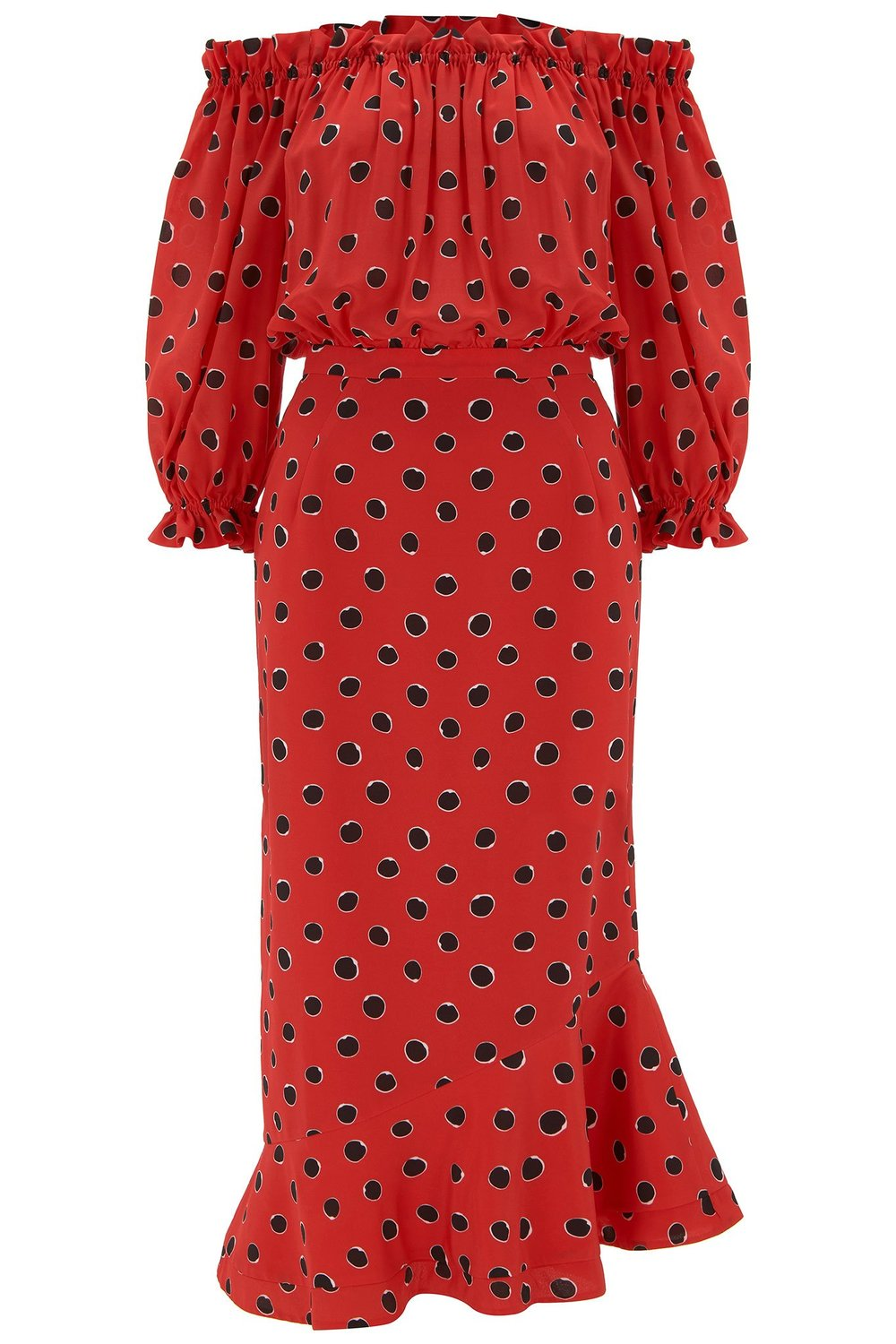 Saloni - Grace Dress Carmine Dots