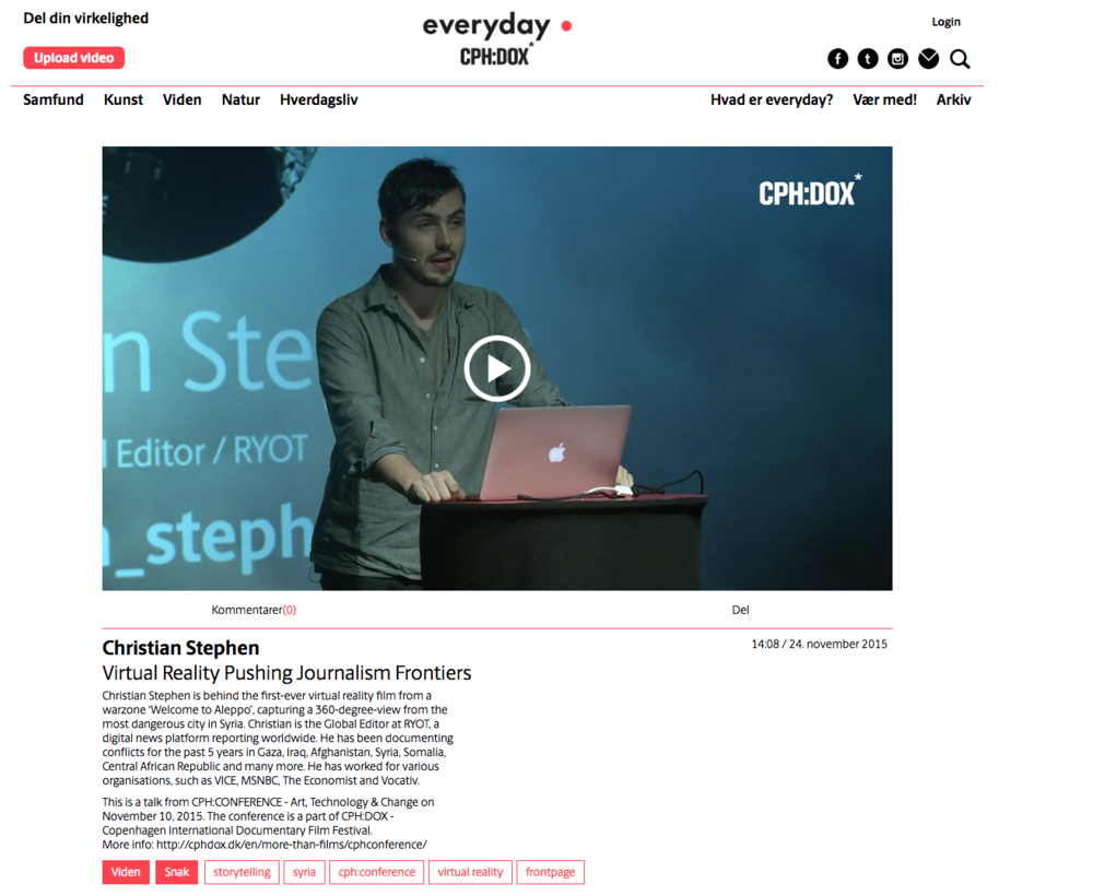 VIDEO LINK: http://www.everydayproject.dk/virtual-reality-pushing-journalism-frontiers
