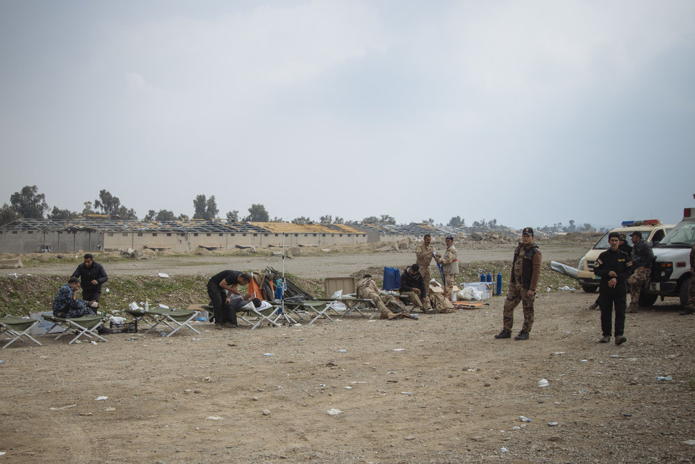 Field Medic station in the Mosul Airport.