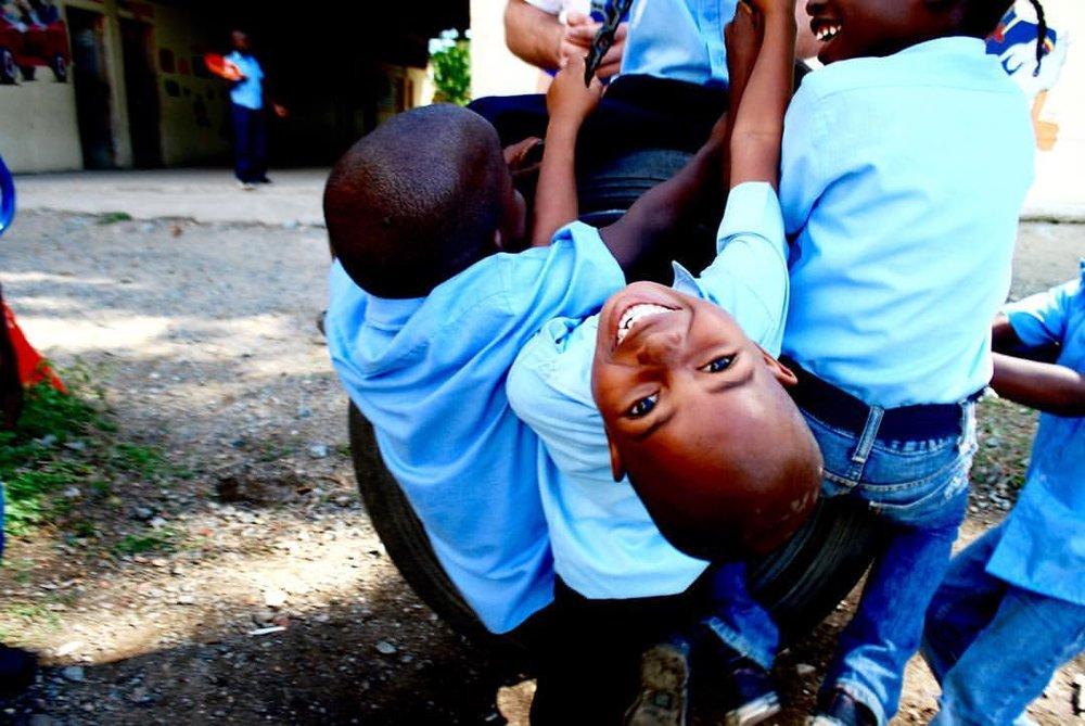 Children at play at the KAI school's playground in Cap Haïtien, Haiti.
