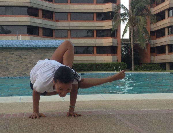 Instagram Yoga Challenge #justbepresent December 2014 - Grasshopper Pose