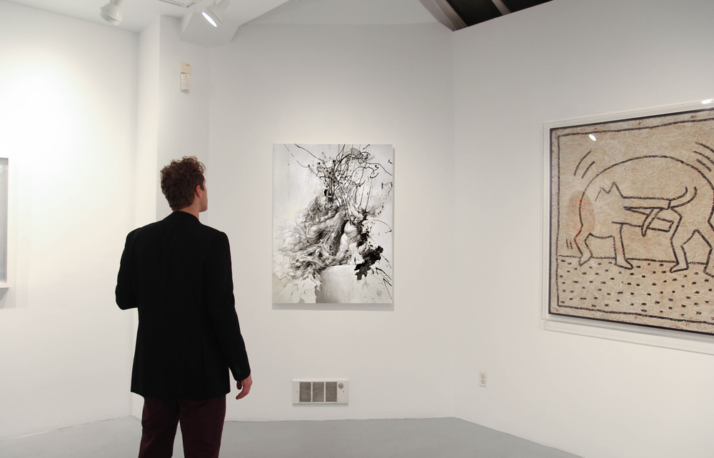 Allouche Gallery, December 2014, with Ryan McGinness, Keith Haring, Faile.
