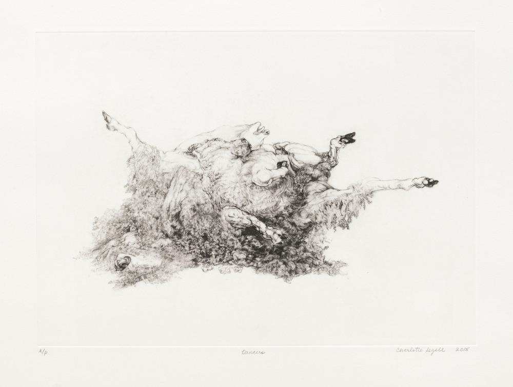 Charlotte Segall, Dancers , photogravure, 2016.