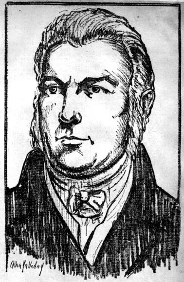 Gov. Arthur Fenner. Sketch by Allan Yalladny, 1936.
