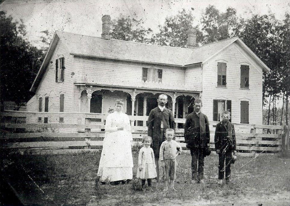 Corydon Malcon Fenner & Family, Ovid Township, Branch County, MI, ca. 1889.