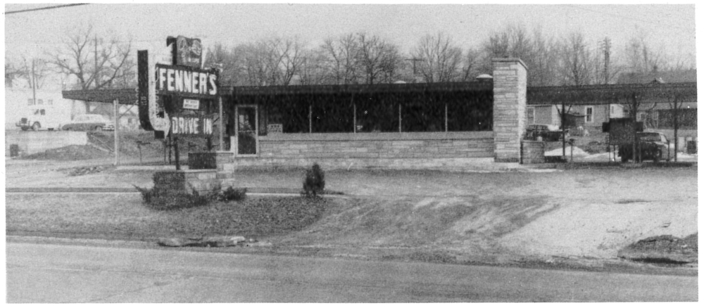 Fenner's Drive-In, Sturgis, MI (from a Sturgis High School yearbook)