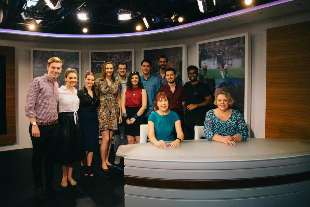 The study tour group at Now TV