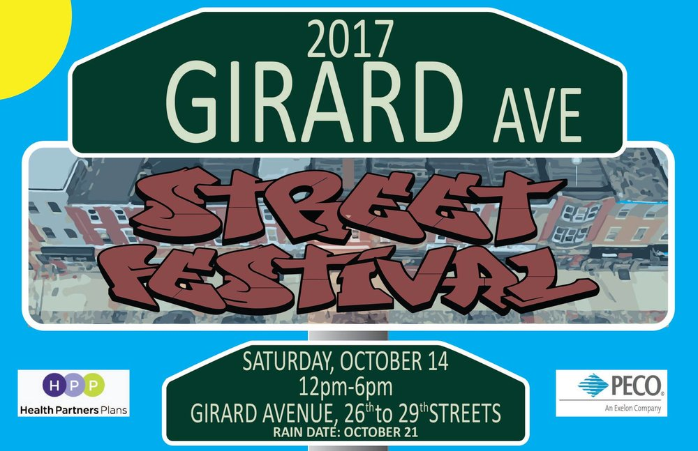 Girard Avenue Street Festival - October 14, 2017We perform at 12:15!The whole festival goes from 12-6.On Girard Avenue between 26th and 29th St.