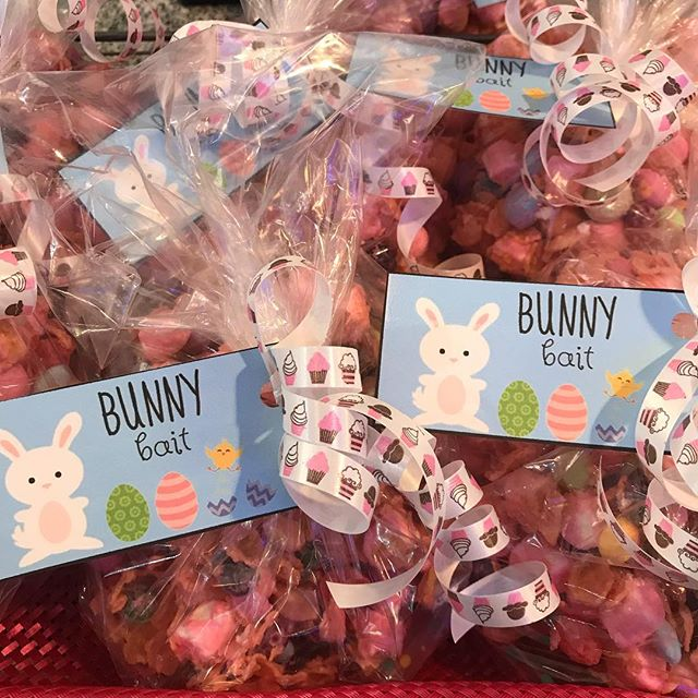 Worried the Easter Bunny might skip your house? Put out some bunny bait Saturday night to make sure he doesn't miss you! Come in and get a bag while it lasts 🐰🐰🐰 . . . . . . #baltimore #hampden #bmore #bakery #cafe #homemade  #charmcity #hampdenhon #eatlocal #homemade #fresh #localbakery #treatyoself #pastry #pastrychef #dessert #easter #easterbunny #bunnybait