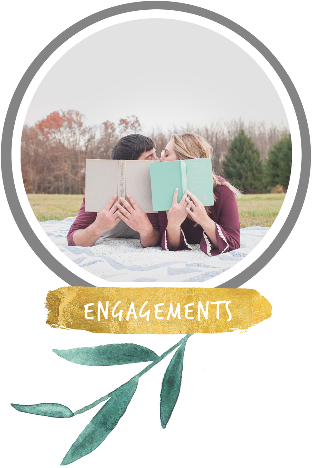 Kissing Couple who are book lovers enjoy a summer engagement session in Wilkes Barre, PA.
