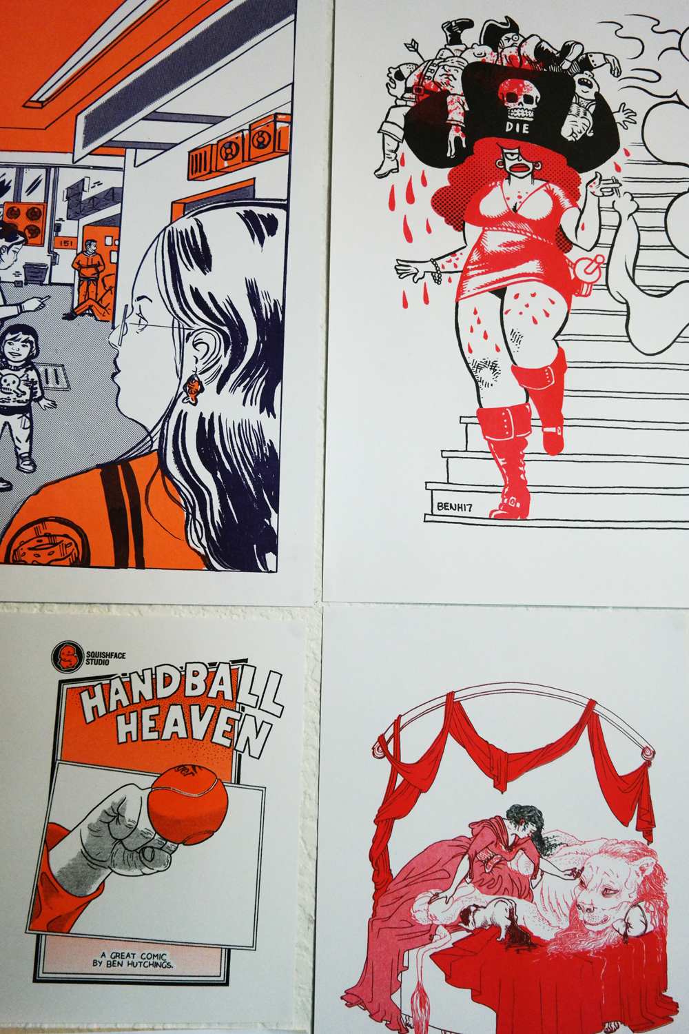 Some riso work by Jess Parker, Ben Hutchings and Alex Clark.