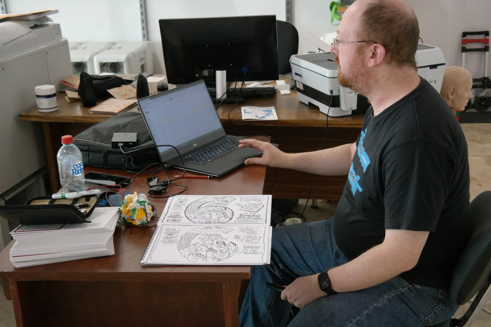 Cartoonist David Blumenstein