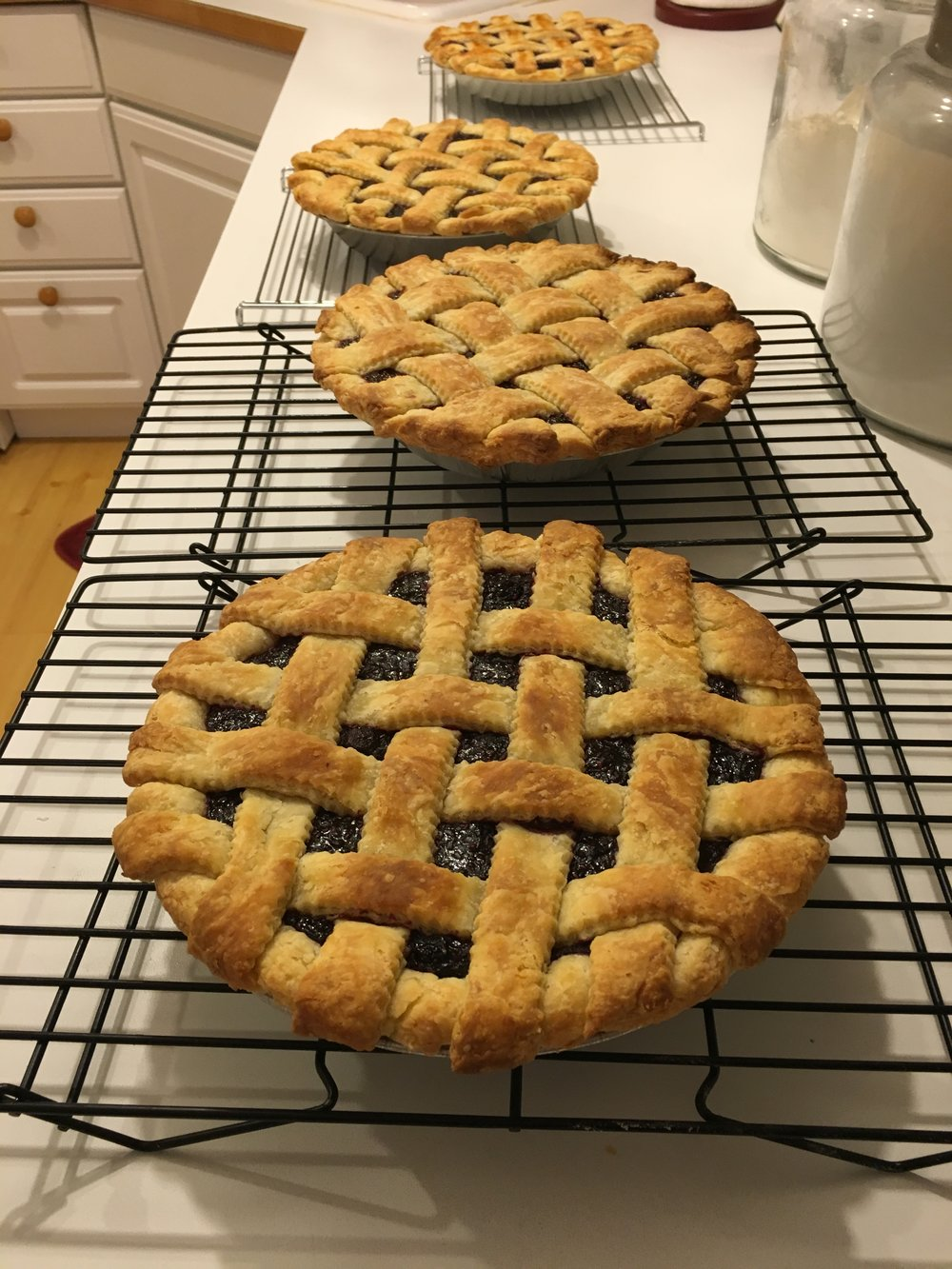 Triple Berry Pies