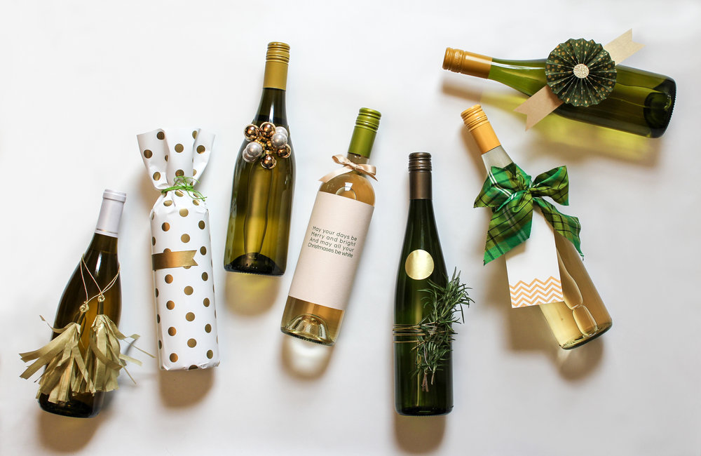 "Publication: Merry Mag  |  Story: ""7 Festive Ways to Wrap Wine"""
