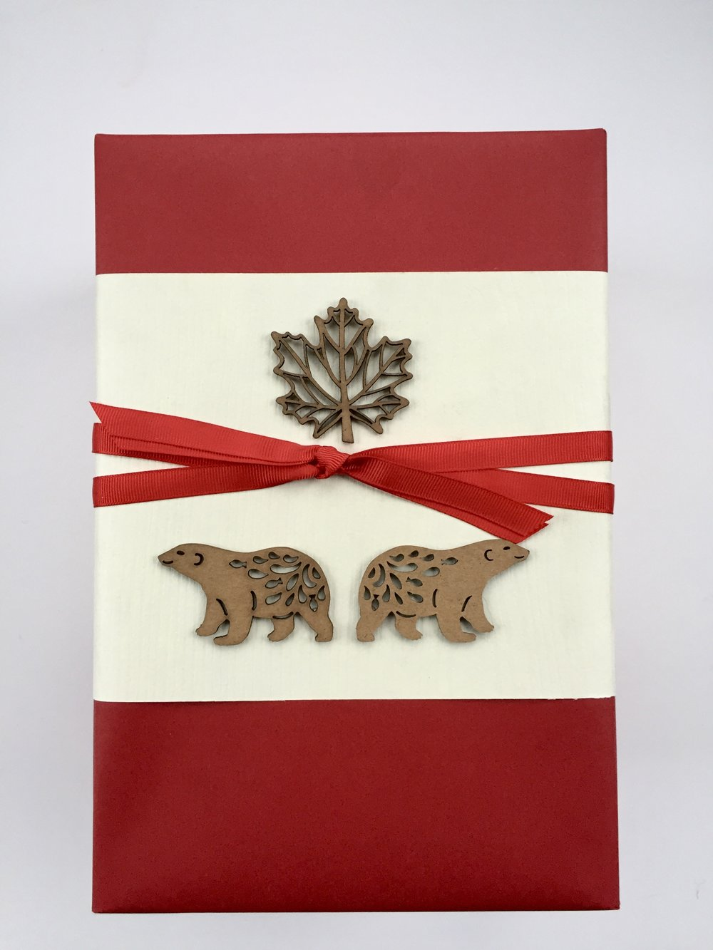 Canadian-themed business gifts, wrapped by Corinna