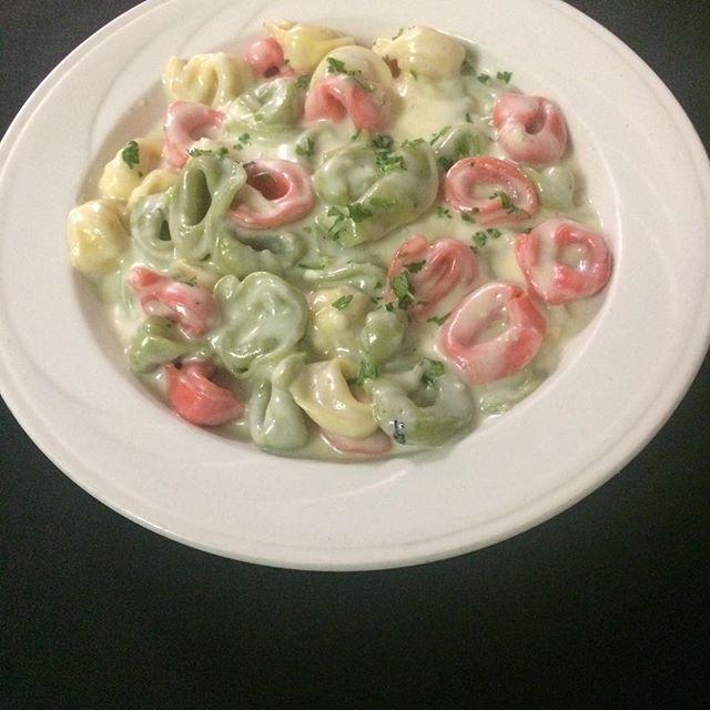 Perfect night for a delicious dish of Tortellini Alla Gorgonzola Sauce!