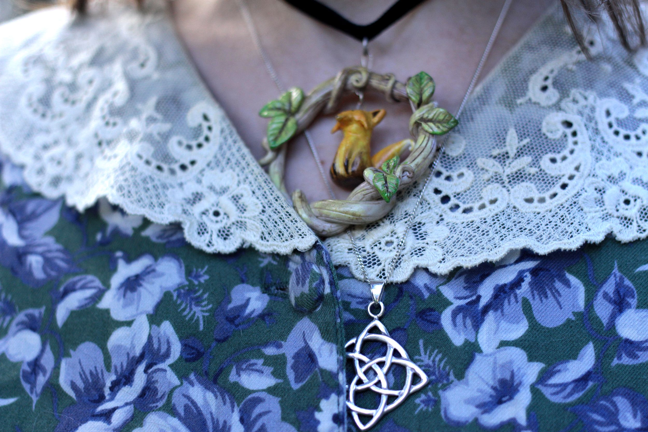 necklace, lace and pattern