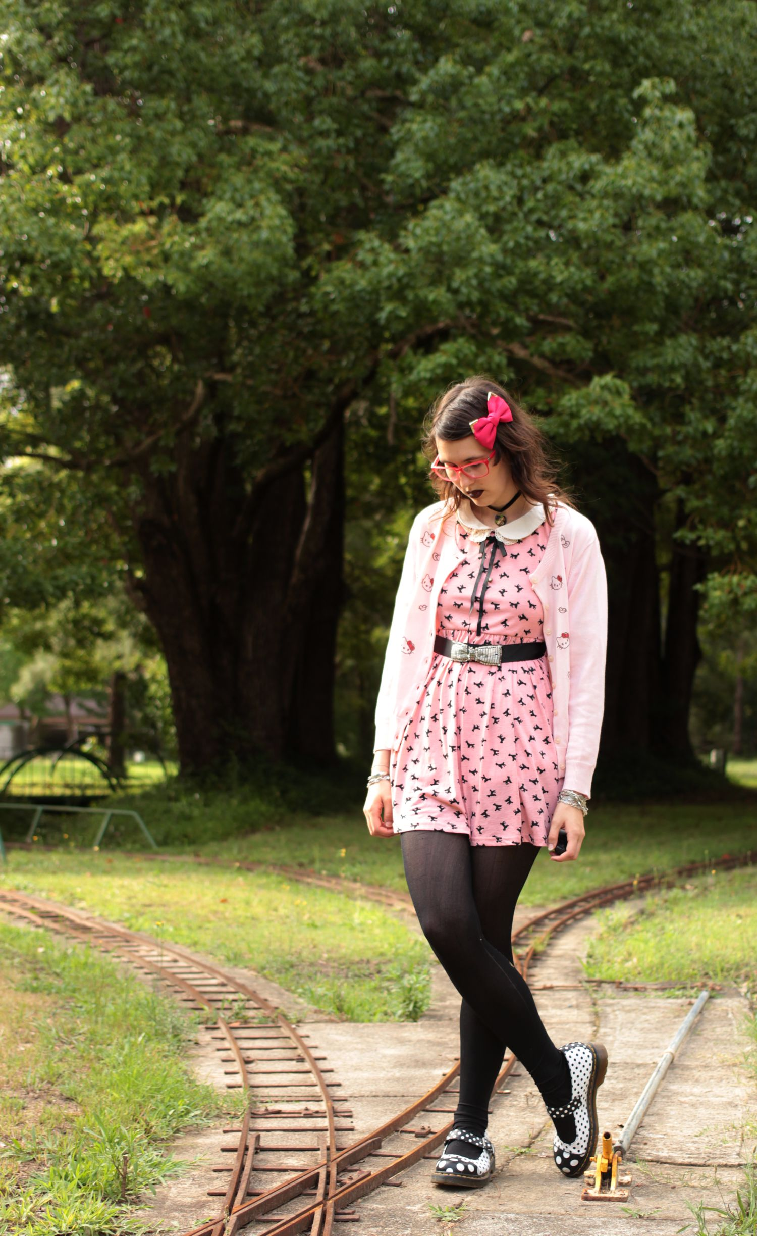 Looking Away Otome Kei Hello Kitty Cardigan