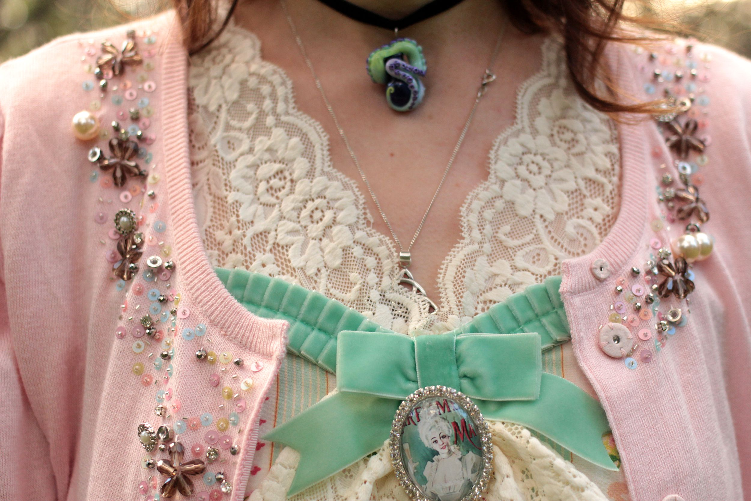 Details Kitten D'amour Cameo Lace Dress Louise Love My Secret Cage of guilded terror The Emerald Ruby